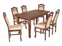Zestaw stół rozkładany do jadalni Ludwik i krzesła B33
