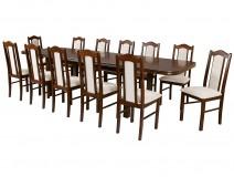 Zestaw 12 osobowy stół Wenus P7 krzesła Boss II