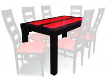 Stół z czerwoną szybą RED RMS25