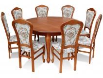 Zestaw dla 8 osób Stół Warkocz + krzesła Ludwik RK30