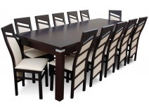 12 osobowy komplet do salonu RMS18-S, krzesła Chiński Skos