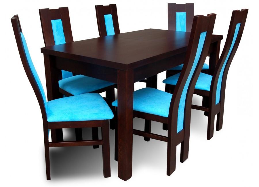 komplet do jadalni st drewniany krzes a venge design blue flori meble. Black Bedroom Furniture Sets. Home Design Ideas