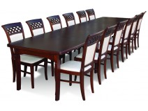Italian Style komplet dla 12 osób z krzesłami Włoska Krata