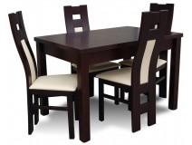 4-osobowy komplet Design Cafe ze stołem rozładanym