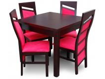 Stół 100x100-250 Wenge + krzesła nowoczesne Styl Chiński