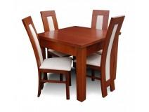 4 nowoczesne krzesła RK60 + stół wielowkładkowy Max Long kod: RMZ105