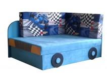 Niebieski rozkładany tapczanik dla dziecka FORMUŁA 78x107/170cm