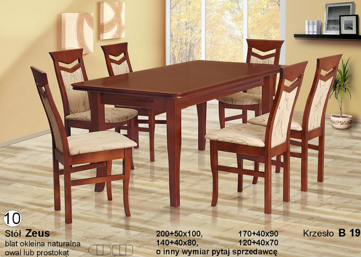 Komplet z krzesłami B19