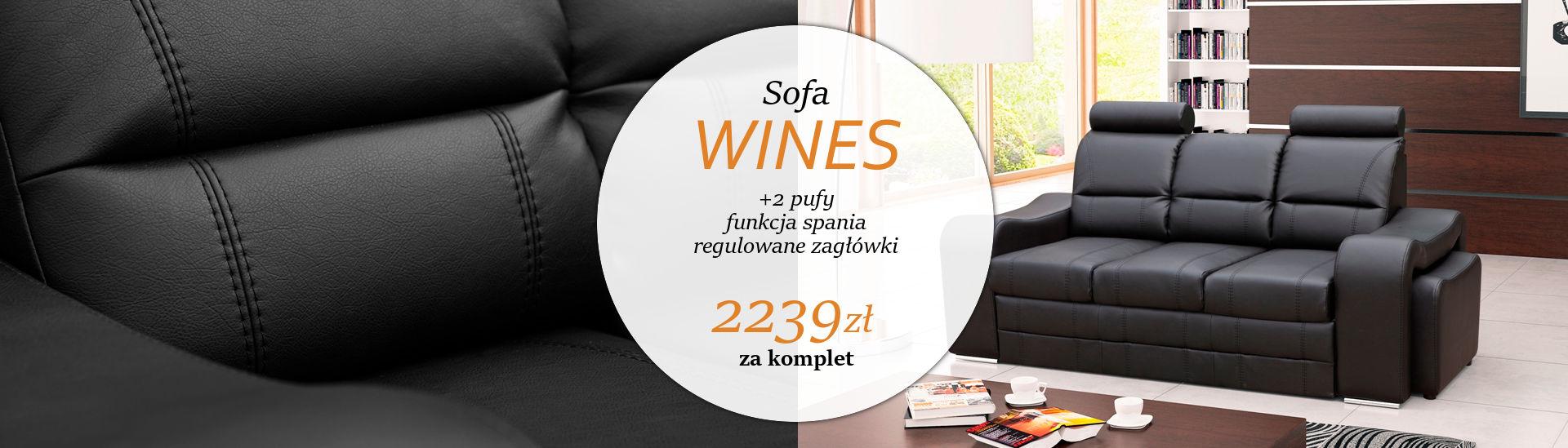 Sofa z funkcją spania Wines