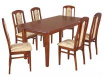 Zestaw stół Artus krzesła B9