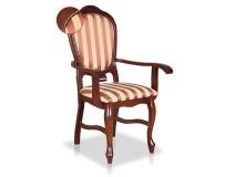 Jadalniane krzesło STB15N z podłokietnikami z pinezkami