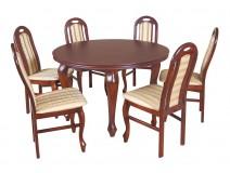Zestaw ze stołem okrągłym Ludwik i krzesłami B11