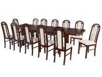 Komplet 12 osobowy stół Wenus P7 krzesła Piano