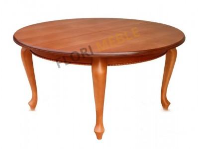 Duży okrągły stół rozkładany Warkocz