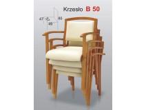 Krzesła restauracyjne sztaplowane z podłokietnikami STB50