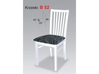 Białe Krzesła Kuchenne Biały Szczebel Stb52