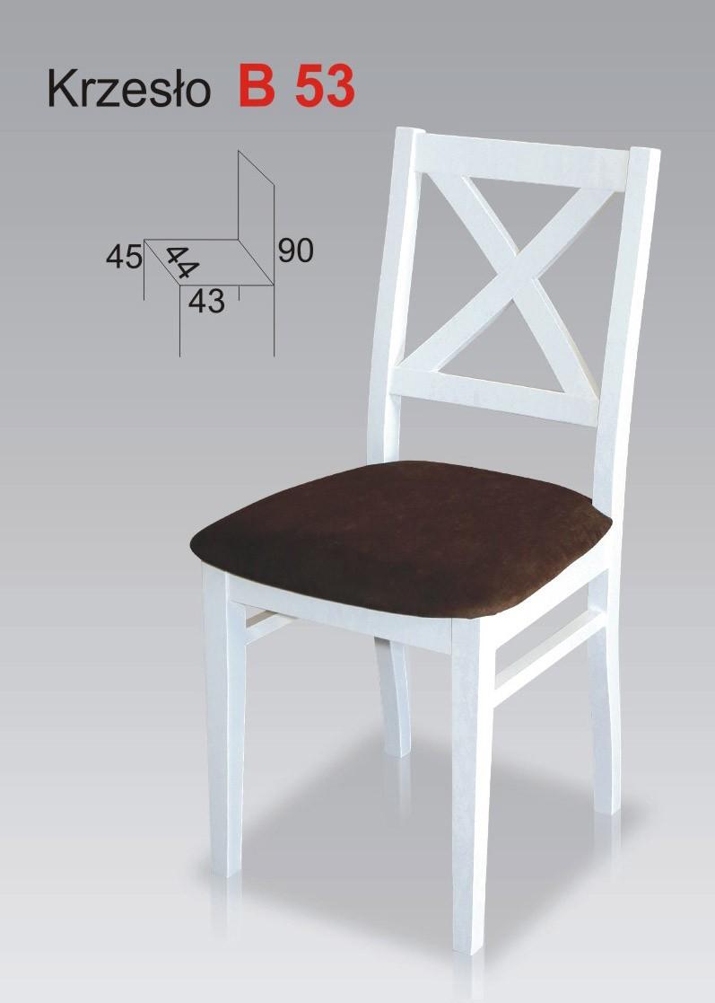 Białe Krzesła Kuchenne Biały Krzyż Stb53
