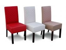 Tapicerowane Krzesła do Salonu Krata Prosta RK44P