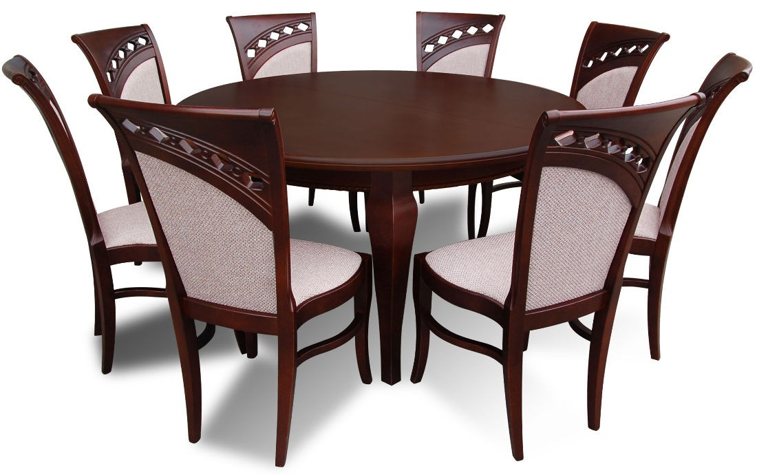 Ekskluzywny Komplet Stół Warkocz Ii Krzesłami Diamenty