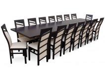 16 osobowy komplet do jadalni RMS18-S, krzesła Chiński Skos
