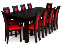 Komplet do jadalni dla 10 osób z krzesłami Profil Pełny