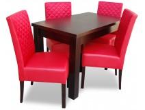 Zestaw Glamour Wood z krzesłami Krata Prosta