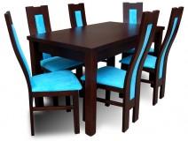 Komplet do Jadalni stół Drewniany krzesła Venge Design Blue