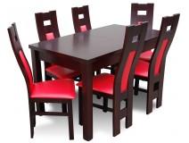 Komplet dla 6 osób do kuchni z nowoczesnymi krzesłami