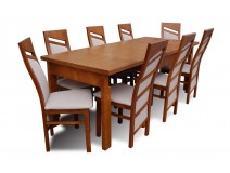 Stół Max Long z krzesłami Chiński Styl