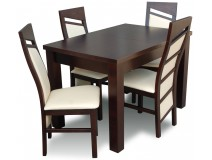 Komplet do Kuchni Stół 70x120+40 + krzesła profilowane Styl Chiński
