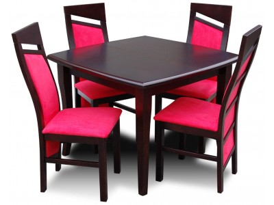 Stół Kwadratowy do 2,5m + krzesła nowoczesne Styl Chiński