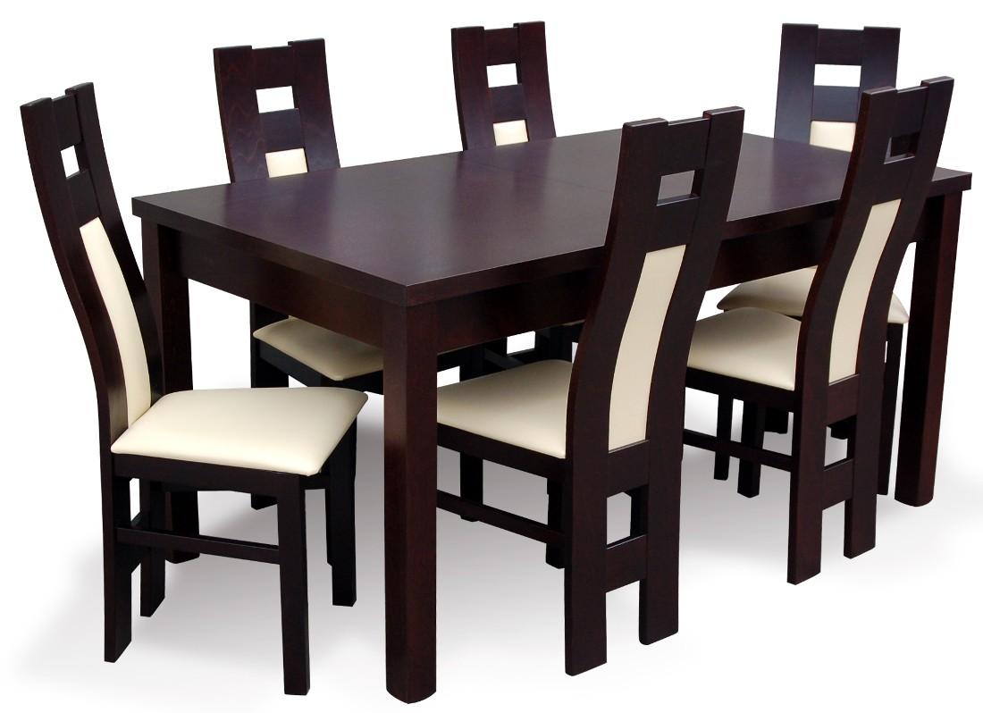 Komplet Do Salonu Z Krzesłami Drewnianymi Profil Flori Meble