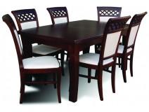 Komplet Italia stół RMS26 + krzesła drewniane Włoska Krata