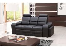 Rozkładana sofa z funkcją spania WINES z 2 pufami