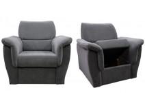 Fotel tapicerowany z pojemnikiem Diore