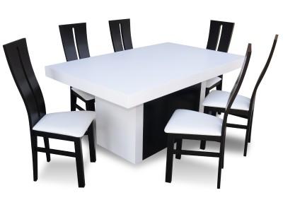 Zestaw Blackwhite Stół Bankietowy 6 Krzeseł Rmk71