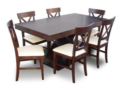 "Komplet ""X-Tab"" stół + 6 krzeseł"