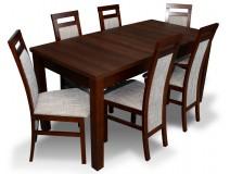 PROMOCJA Zestaw ORZECH Stół Laminat 80x160x200 + 6 x krzesło RMK75