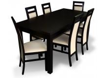 PROMOCJA Zestaw WENGE Stół Laminat 80x160x200 + 6 x krzesło RMK75