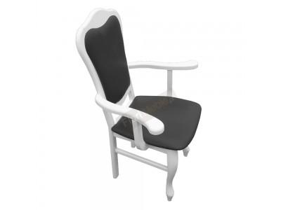 Krzesło z podłokietnikami B23N-P Biały Połysk