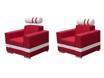 Nowatorski fotel z zagłówkiem R1 KS