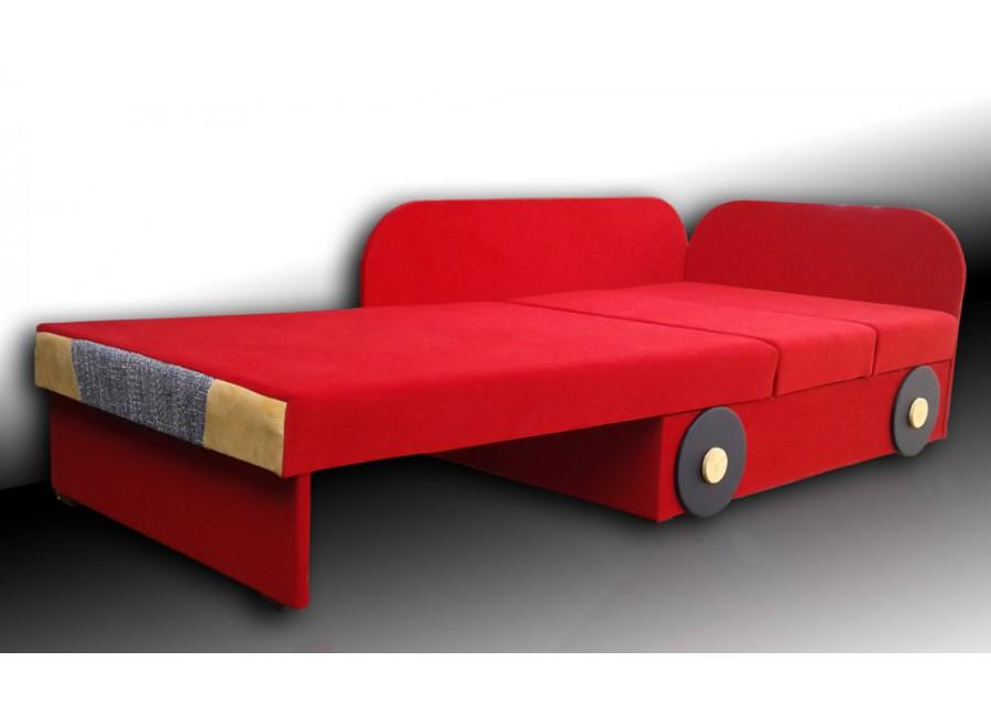 Czerwony Tapczan Dziecięcy Auto 78cm X 107170cm Flori Meble