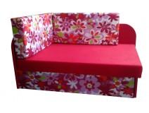 Różowy tapczanik dla dziewczynki WIOSNA 78x107/170cm