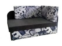 Tapczanik do pokoju dziecięcego BLACK GRAFFITI 78x107/170cm