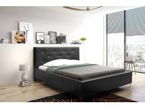 Łóżko tapicerowane do sypialni z pikowanym wezgłowiem AGNIESZKA