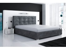 Łóżko do spania DAKAR z wezgłowiem pikowanym w kryształki
