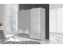 DIARA - Szafa sypialniana z 8 lustrami + oświetlenie LED