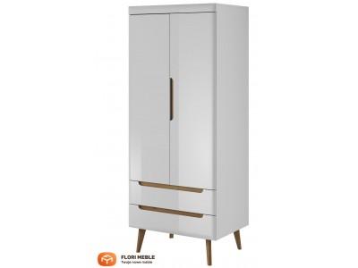 Szafa z szufladami 2 drzwiowa biały połysk OREA NSZ80