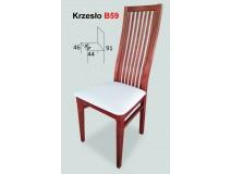 Krzesla z drewnianym, szczebelkowym oparciem szczeble-Pion B59