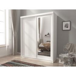 Szafa ubraniowa do sypialni z lustrem ASLA 200cm